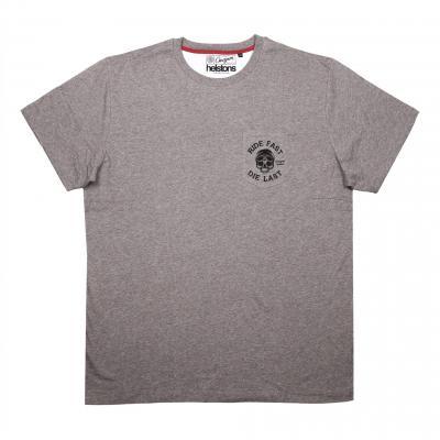 Tee-shirt Helstons/Chevignon gris chiné