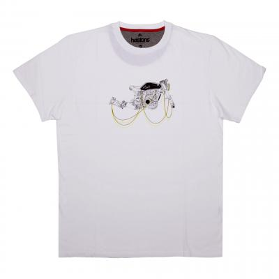 Tee-shirt Helstons Motorcycle blanc