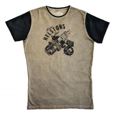 Tee-shirt Helstons Sparks beige/noir