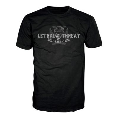 Tee-shirt Lethal Threat Biker From Hell noir