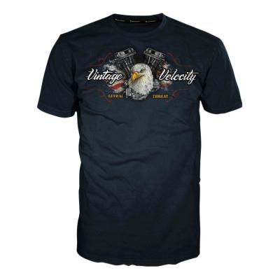 Tee-shirt Lethal Threat Ride Vintage Velocity Eagle Motorcycle noir