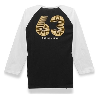 Tee-shirt manches 3/4 Alpinestars Six Three premium noir/blanc