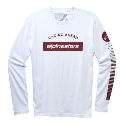 Tee-shirt manches longues Alpinestars ARC BAR LS blanc