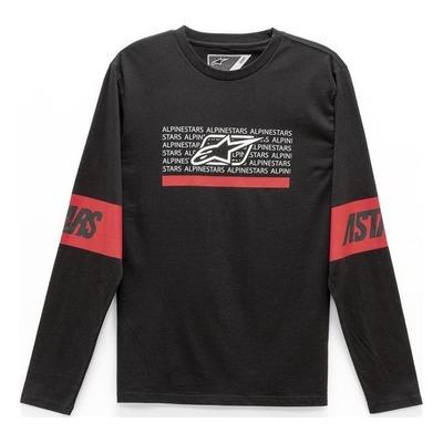 Tee-shirt manches longues Alpinestars Fave noir/rouge