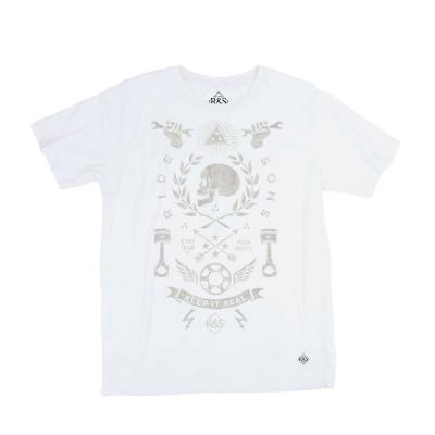 Tee shirt Ride And Sons HISTORIA Bmd Design blanc