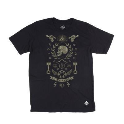 Tee shirt Ride And Sons HISTORIA Bmd Design noir