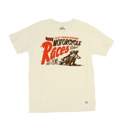 Tee shirt Ride And Sons MOTORCYCLES RACES vanille