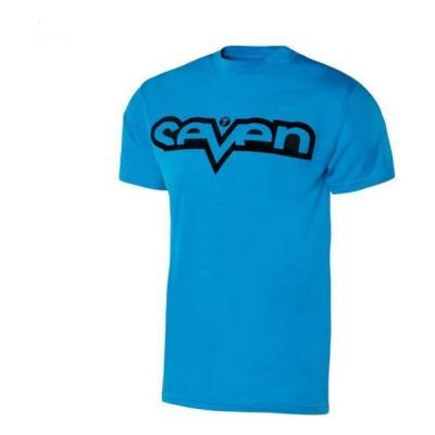 Tee-shirt Seven Brand cyan/noir