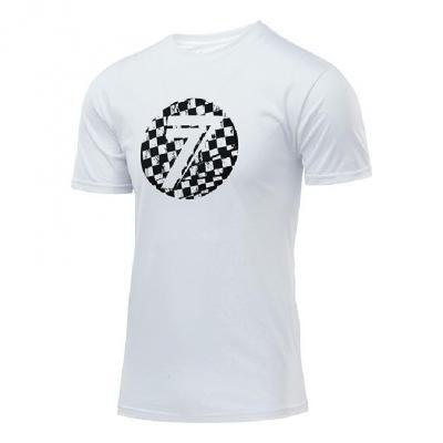 Tee-shirt Seven Dot white/checkmate