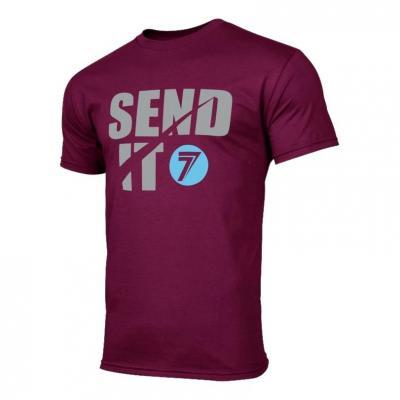 Tee-shirt Seven Send It bordeaux
