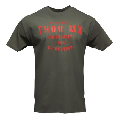 Tee-shirt Thor Surplus crafted vert/rouge