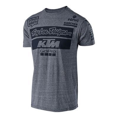 Tee-shirt Troy Lee Designs Team KTM 2018 vintage gray snow