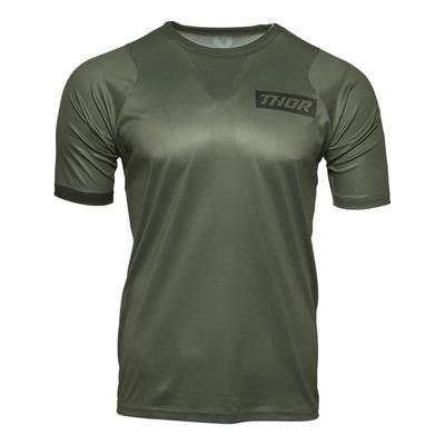 Tee-shirt vélo Thor Assist MTB SS army vert