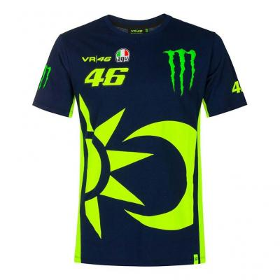 Tee-shirt VR46 Replica Monster bleu
