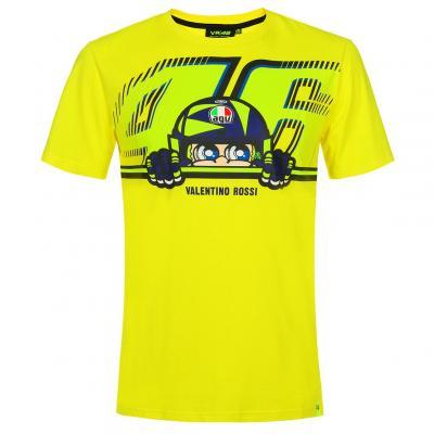 Tee-shirt VR46 Valentino Rossi Cupolino jaune 2019