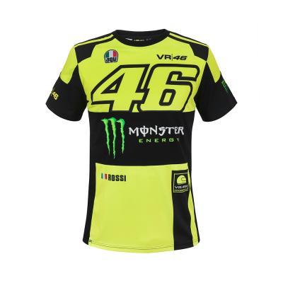 Tee shirt VR46 Valentino Rossi Replica Monster jaune fluo 2018