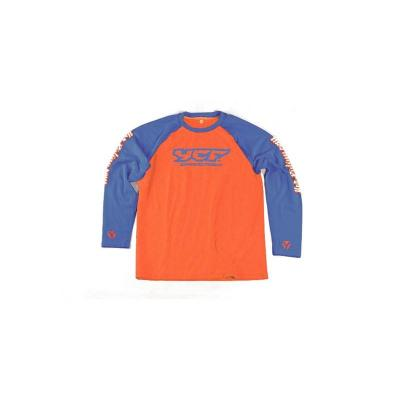 Tee-shirt YCF manches longues orange/noir