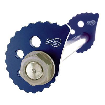 Tendeur excentrique de chaîne longues bleu S3 pour moto trial modernes