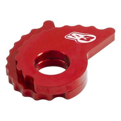 Tendeur excentrique de chaîne medium rouge S3 pour moto trial modernes