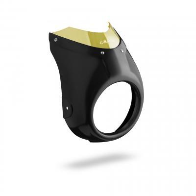 Tête de fourche café racer C. Racer noire bulle jaune Yamaha XSR 700 16-19