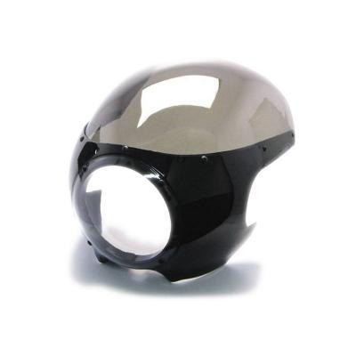 Tête de fourche Café Racer noir brillant