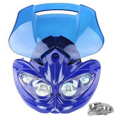 Tête de fourche Manga carbone bleu bulle bleu transparent