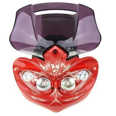 Tête de fourche Manga carbone rouge bulle rouge transparent