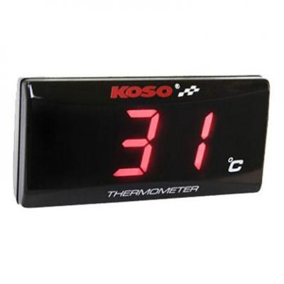 Thermomètre Koso Super Slim rouge air ambiant