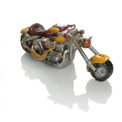 Tirelire Booster Motorbike 25cm jaune