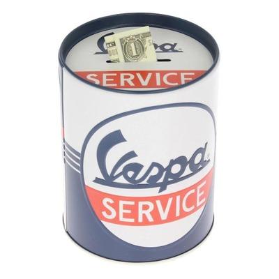 Tirelire métal Vespa Service bleu/blanc/rouge