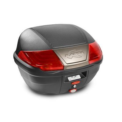 Top case Kappa K400N Monolock 40 Litres carbone/noir/rouge/titane