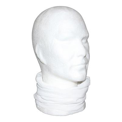 Tour de cou, cache cou, bandeau multi-usage blanc