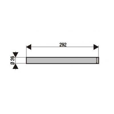 Tubes de fourche (x2) MBK Ovetto / Yamaha Neo's 50 / 100 (pour fourche Paioli)