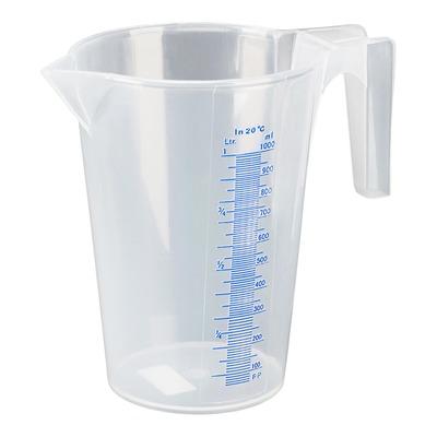 Verre doseur transparent gradué plastique Pressol 1L