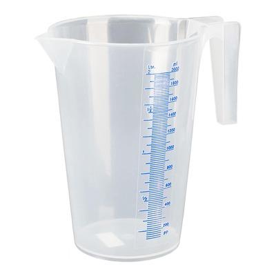 Verre doseur transparent gradué plastique Pressol 2L