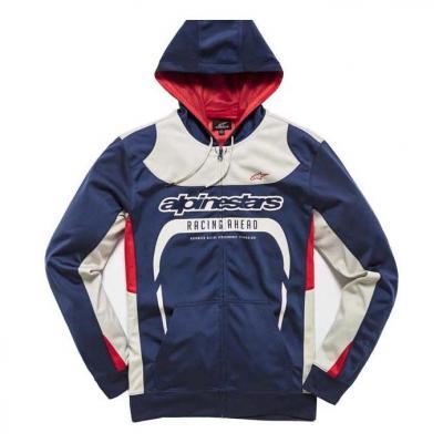 Veste à capuche zippé Alpinestars Session fleece navy/blanc/rouge