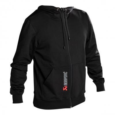 Veste à capuche zippée Akrapovic noire
