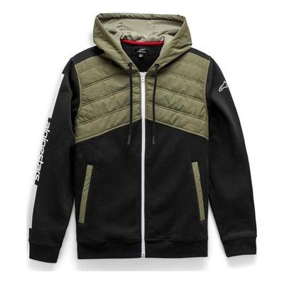 Veste à capuche zippée Alpinestars Alltime Hybrid noir/olive