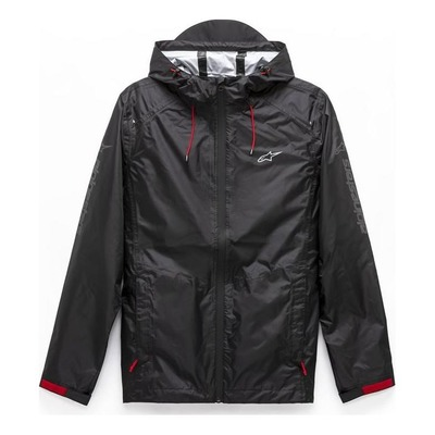Veste à capuche zippée Alpinestars Resist III Rain noir