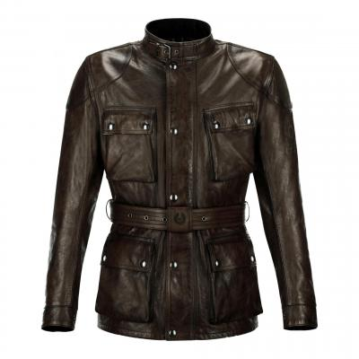 Veste cuir Belstaff Trialmasterpro Black/brown