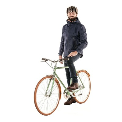 Veste de pluie vélo Tucano Urbano Magic Day bleu foncé