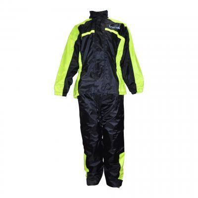 Veste et pantalon de pluie Trendy noir / jaune