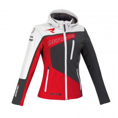 Veste femme softshell Bering Lady Racing gris/rouge/blanc