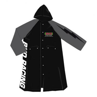 Veste imperméable bud Racing PVC gris/noir