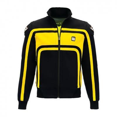 Veste moto homme Blauer Easy Rider noir/jaune