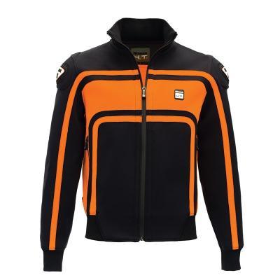 Veste moto homme Blauer Easy Rider noir/orange