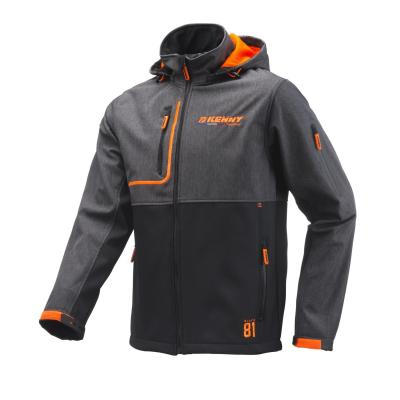 Veste Softshell Kenny Racing gris/orange noir