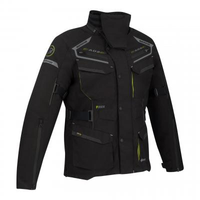 Veste textile Bering Minsk noir/jaune fluo