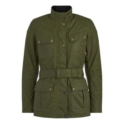 Veste textile femme Belstaff Trialmaster Pro lady coton ciré vert forest