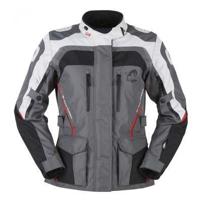 Veste textile femme Furygan Apalaches noir/gris/rouge (compatible airbag Furygan)